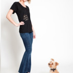 Black Tee and dog