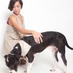 Romy and dog